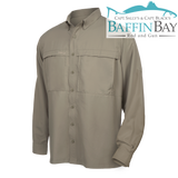 Men's MicroFiber Long Sleeves Mesquite / S Baffin Bay Rod And Gun Free Shipping