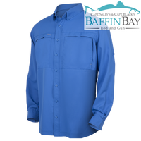 Men's MicroFiber Long Sleeves Pacific Blue / S Baffin Bay Rod And Gun Free Shipping