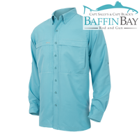Men's MicroFiber Long Sleeves River Blue / S Baffin Bay Rod And Gun Free Shipping
