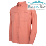 Men's MicroFiber Long Sleeves Salmon / S Baffin Bay Rod And Gun Free Shipping