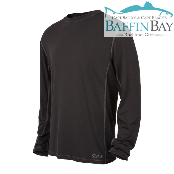 Men's Performance Tee Caviar / L / Long Sleeves Baffin Bay Rod And Gun Free Shipping