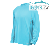 Men's Performance Tee River Blue / L / Long Sleeves Baffin Bay Rod And Gun Free Shipping