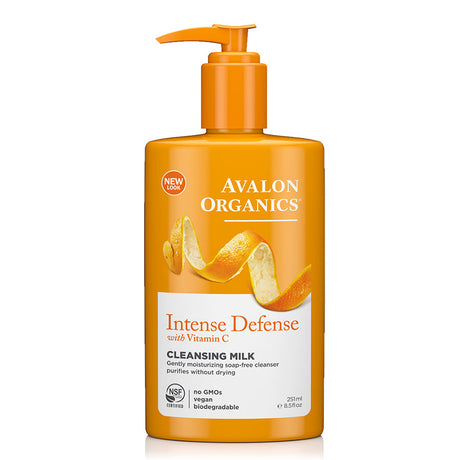 Avalon Organics Intense Defense Cleansing Milk with Vitamin C