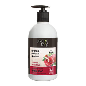 Organic Shop Pomegranate and Patchouli Refreshing Hand Soap