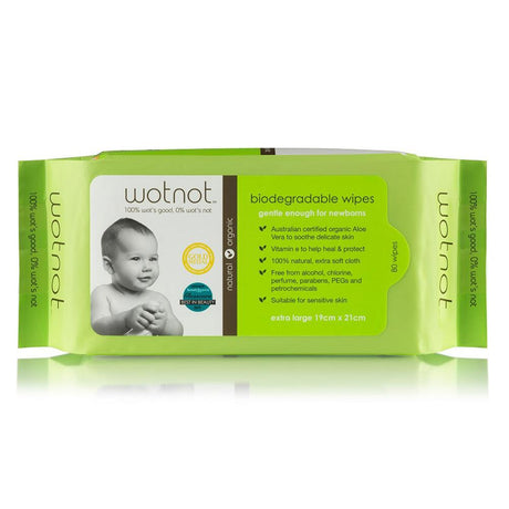Wotnot Biodegradable Baby Wipes 80pk