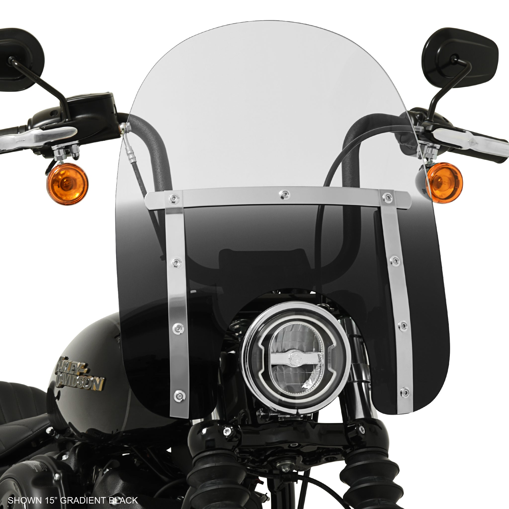 "15"" Memphis Slim windshield on a FXBB Softail Street Bob"