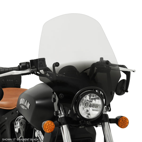 "Scout Bobber with a 17"" El Paso Sportshield Windshield"