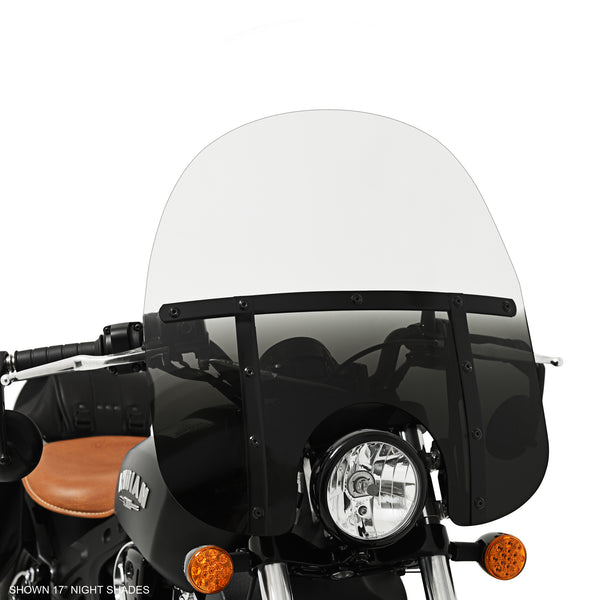 "17"" Memphis Fats Night Shades on Indian Scout Bobber"