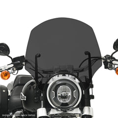 Dark Black Smoke El Paso Sportshield Windshield on a HD FLSB Sport Glide