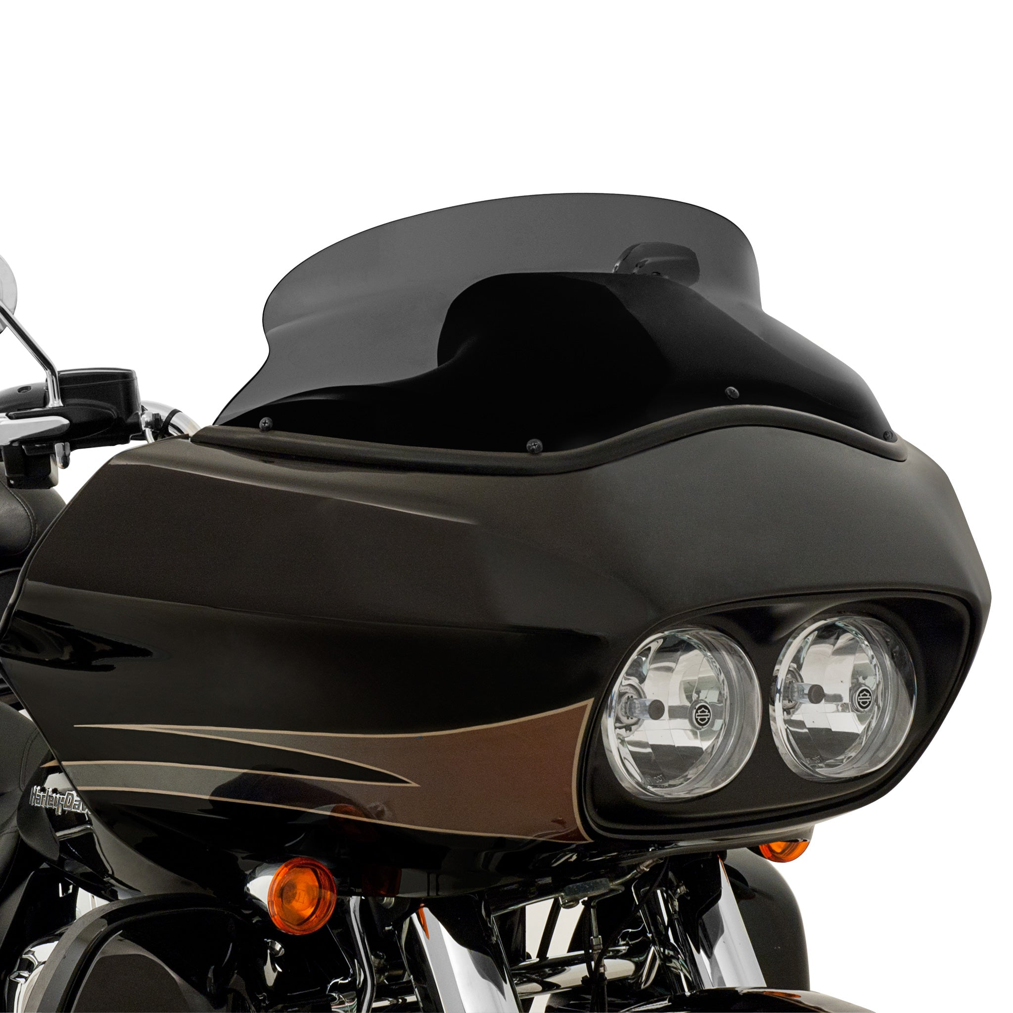 "6.5"" Dark Black Smoke on 2011 HD FLTR Road Glide"