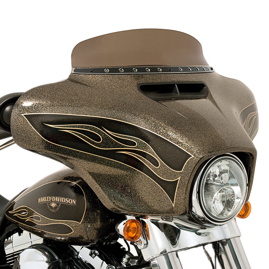 POLISHED STAINLESS STEEL SLIM STYLE STEEL TRIM FOR BATWING FAIRING FOR HARLEY