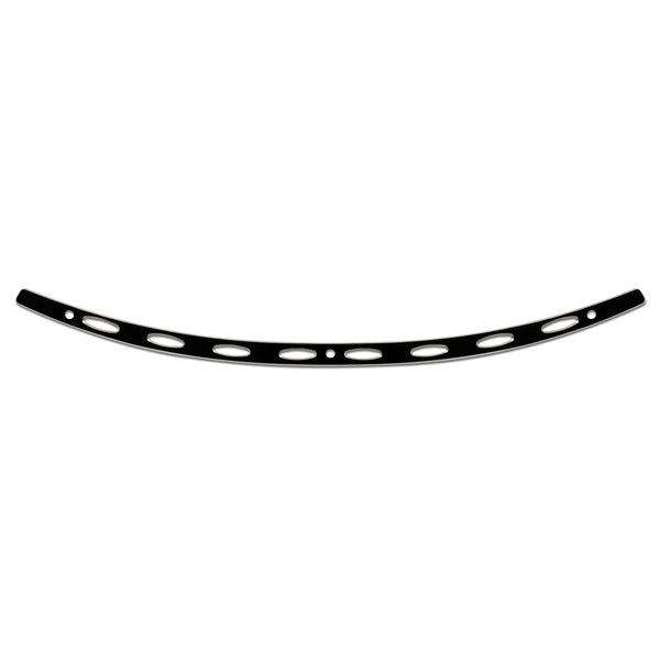 Black Contrast Ellipse Windshield Trim for FLH Fairings