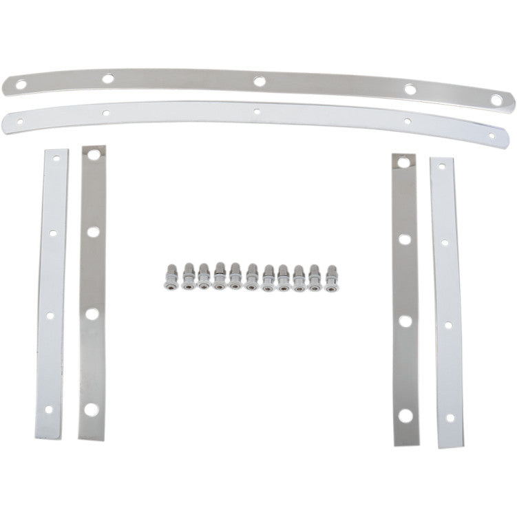 Polished Replacement Strap Kit for Memphis Fats Windshield.