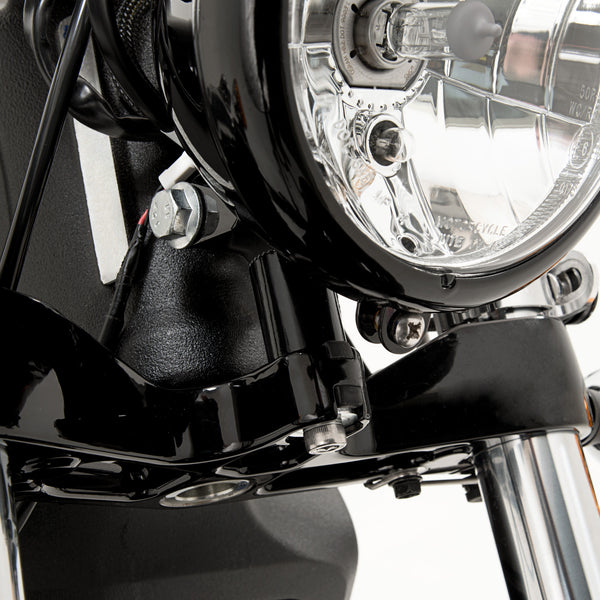 Headlight riser block for Indian Scout Batwing