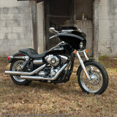 2012 Harley-Davidson FXDC Super Glide Custom with detachable Batwing Fairing.