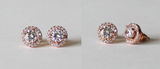 Item# S020 - 10mm Round CZ Cubic Zirconia earring studs