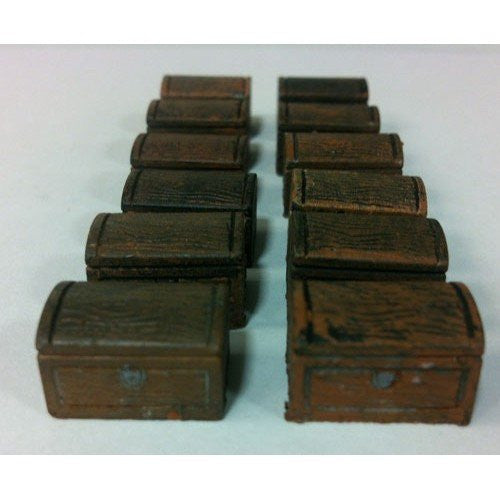 Accessory - Chest, Small Wooden - Set of 12