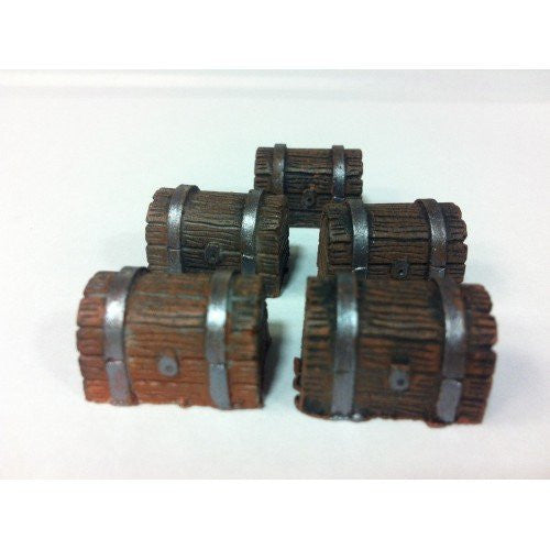 Accessory - Chest, Wooden - Set of 5