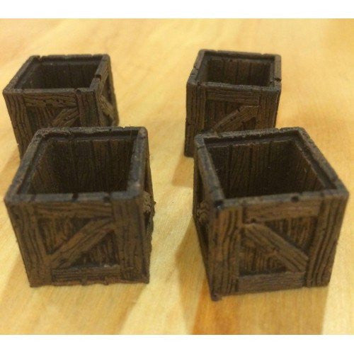 Accessory - Crate, Wooden Large Open - Set of 4