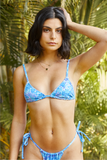 Vice 2.0 Bikini Top - Deadstock Blue Wildflower (RTS)