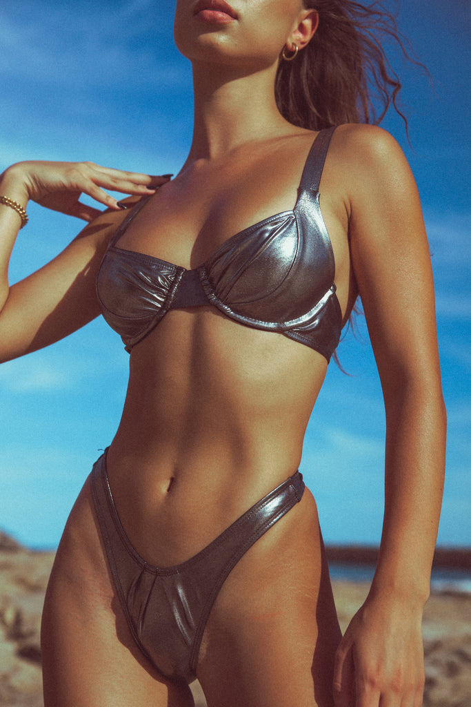 Flash Bikini Top - Deadstock Black Diamond (MTO)
