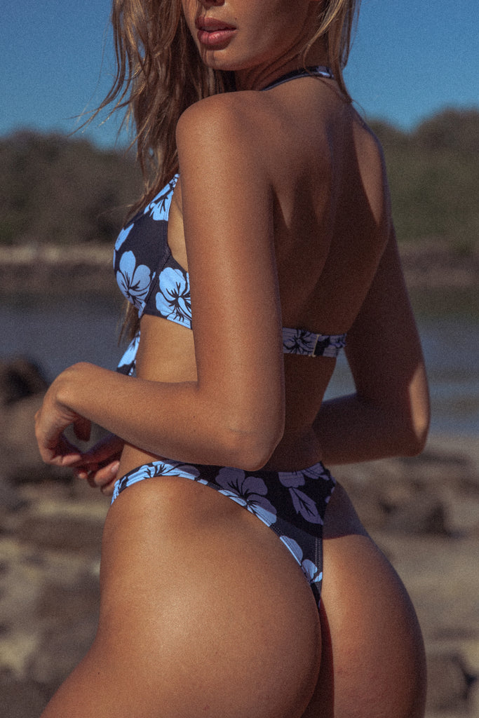 Buffy Bikini Pant - Blue Hawaii
