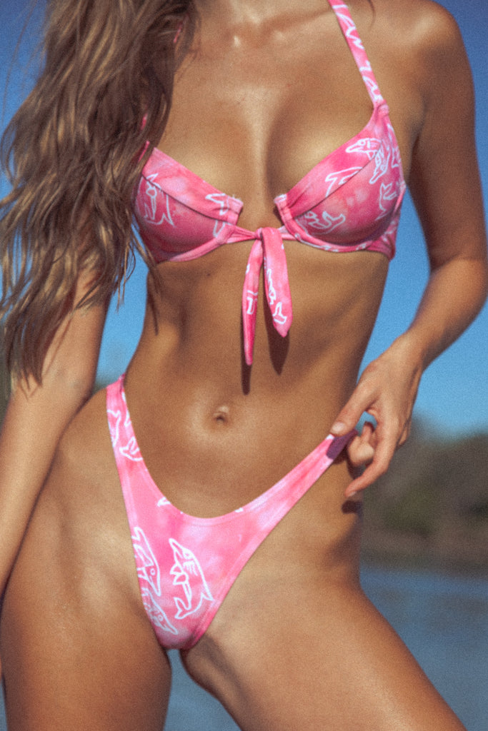 Happy Hour Bikini Top - Dolphin (PRE ORDER)