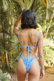 Vice Bikini Top - Deadstock Blue Wildflower (PRE-ORDER)