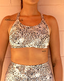 Luna Sports Crop - Leopard