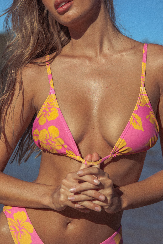 Vice 2.0 Bikini Top - Pink Hawaii (PRE-ORDER)