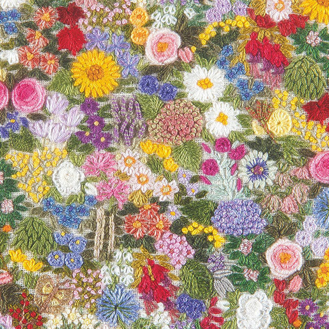 DL02G Carpet Of Flowers (Hand Embroidery)
