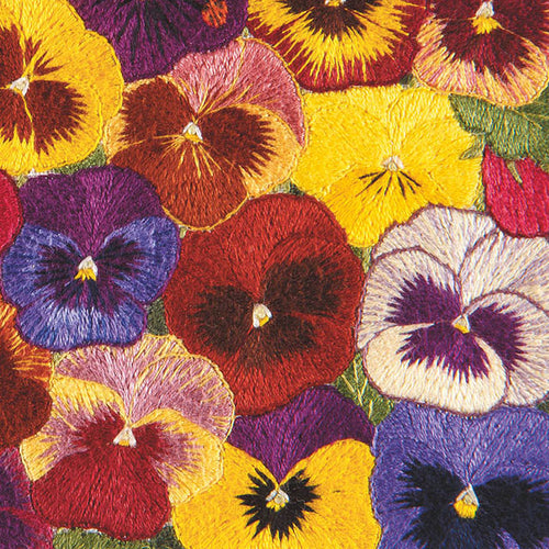 DL06G Carpet Of Pansies (Hand Embroidery)