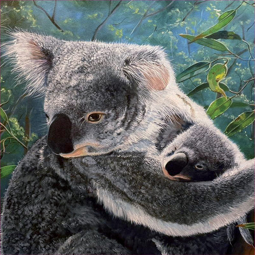 EB18LS A Mother's Love (Australian Koala And Joey)
