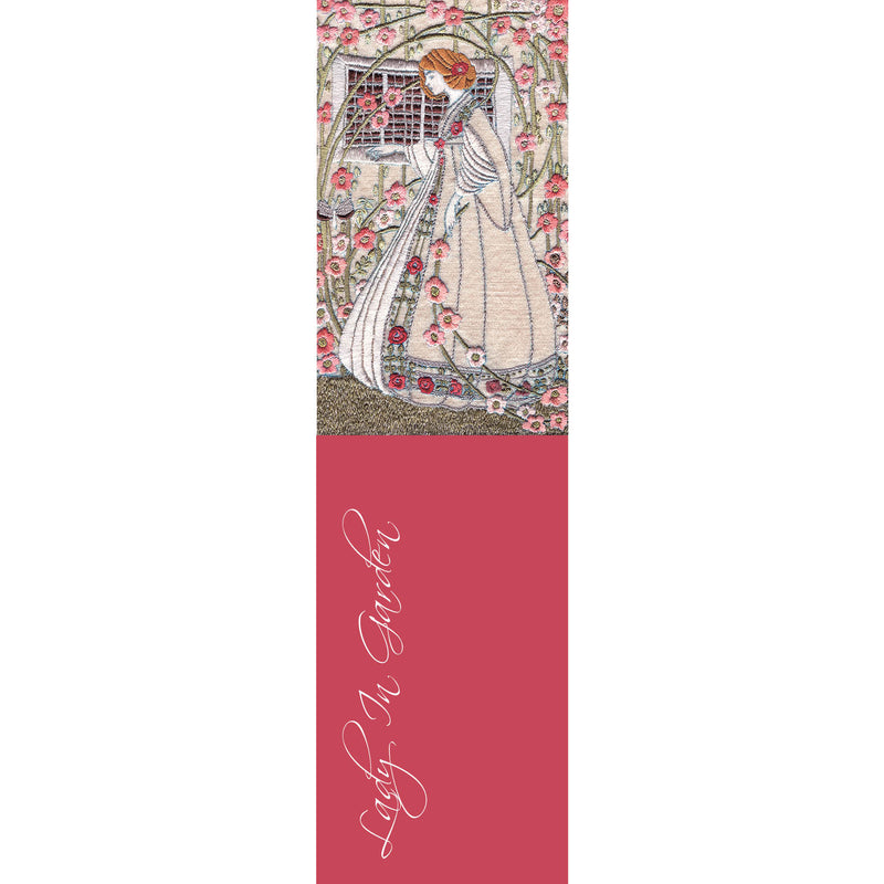 HL01B Lady In Garden (Silk Embroidery, Art Nouveau Style)