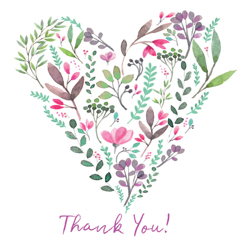 LKC10G Thank You Floral Heart