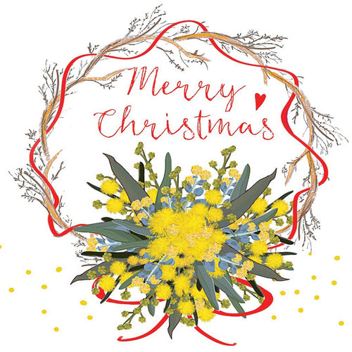 LKC11G Merry Christmas (Australian Wattle And Eucalyptus)