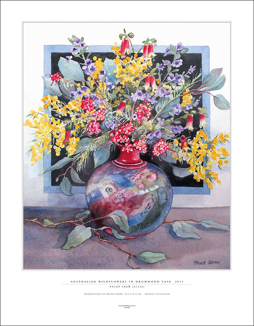 PS107AP Australian Wildflowers In Drummond Vase