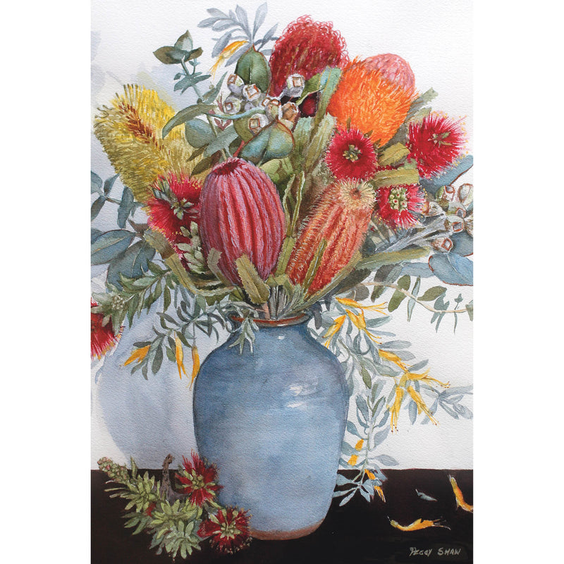 PS111 Australian Banksias, Bottlebrush And Eucalyptus