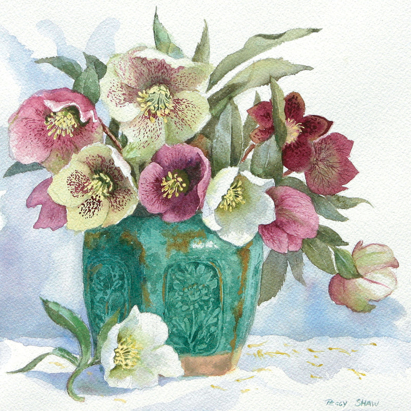PS46LS Hellebores In Ginger Jar