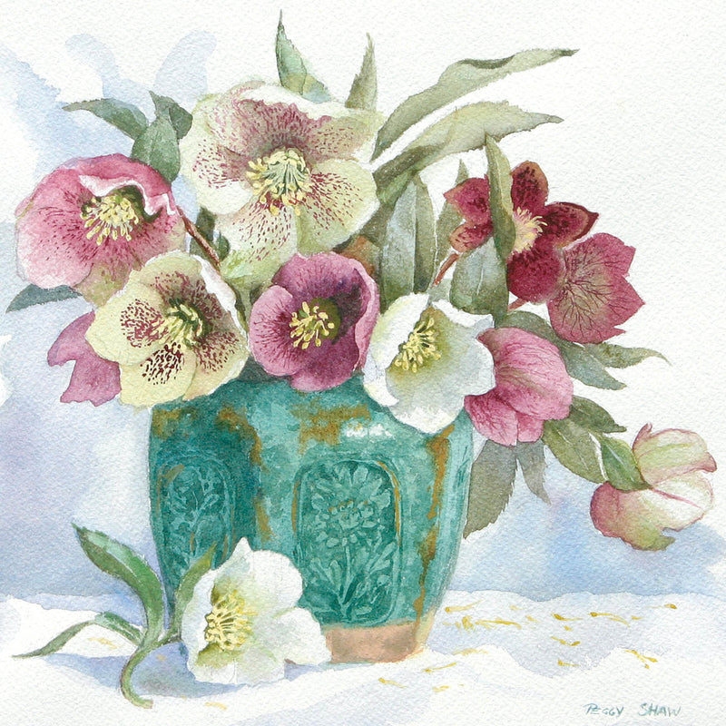 PS46G Hellebores In Ginger Jar