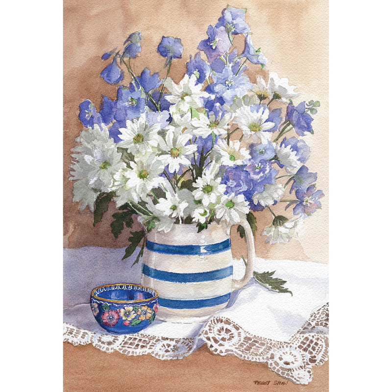 PS67 Daisies And Delphiniums