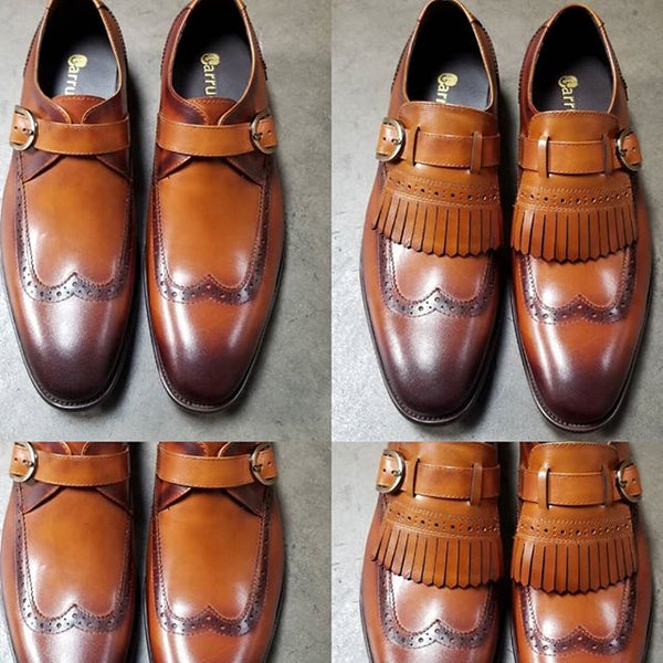 KS886-24 Carrucci Removable Kiltie Buckle Loafer