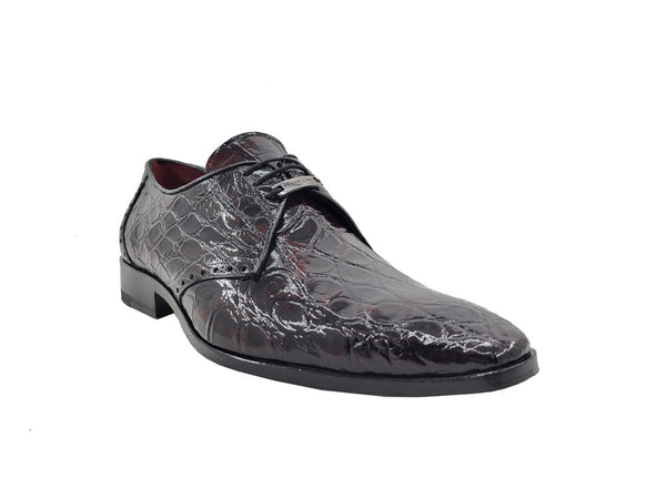 Exotic Alligator Three eyelets Oxford