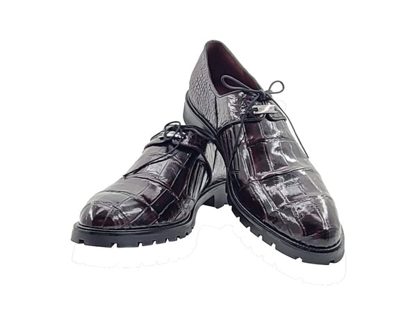 Authentic Genuine Alligator Lace-up Oxford - Cosi