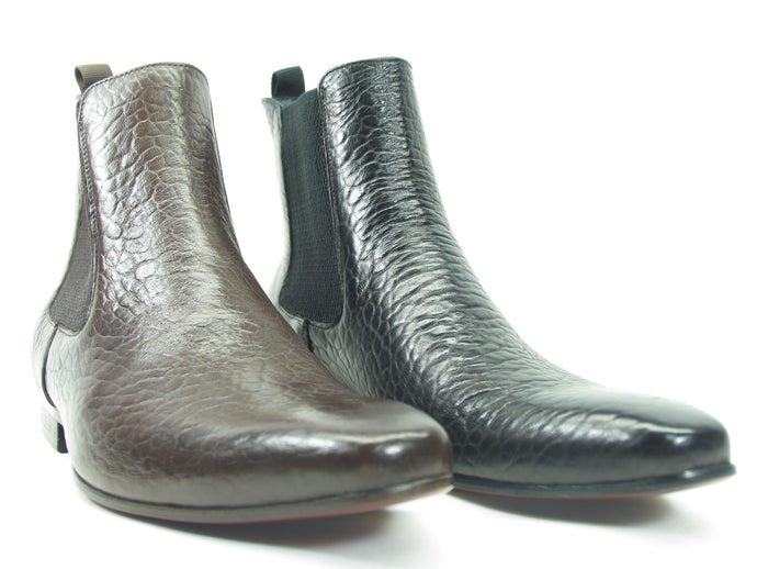 KB1377-05E Textured Chelsea Boots