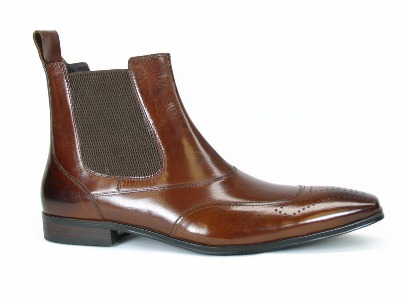 Carrucci Medallion Toe Chelsea Boots