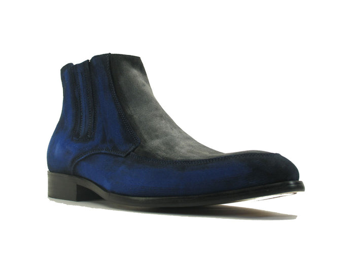 KB478-107ST Two Tone Suede Chelsea Boots
