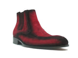 KB478-107S Leather Suede Chelsea Boots