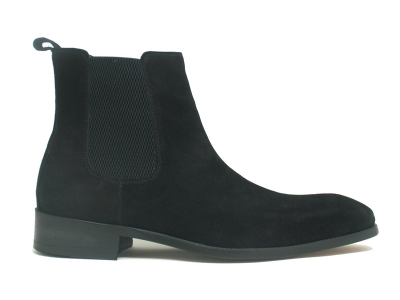 Leather Suede Chelsea High Boots