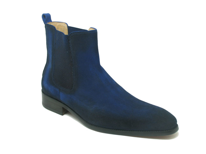 KB478-108S Leather Suede Chelsea High Boots